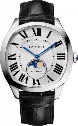 Drive de Cartier Moon Phases Stainless Steel / Silver