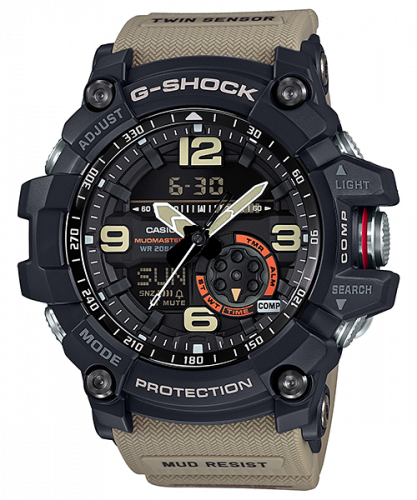 G-Shock Mudmaster Twin Sensor Black / Beige