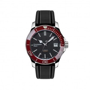 C60 Trident Pro 600 38MM Stainless Steel / Black / Red / Rubber