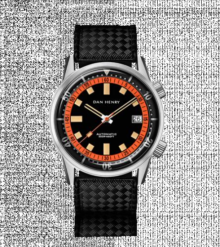Dan Henry 1970 Automatic Diver 40 Black-Orange / Stainless Steel