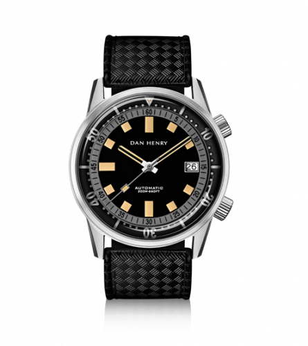 Dan Henry 1970 Automatic Diver 44 Black-Grey / Stainless Steel