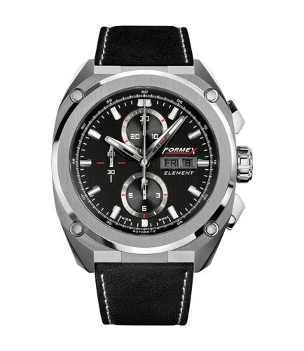 Element Automatic Chronograph Full Steel / Black / Calf