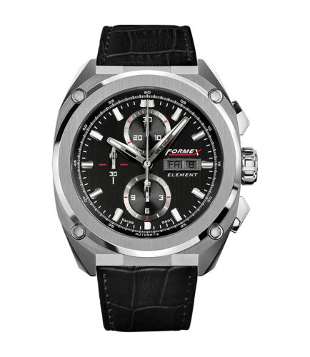 Element Automatic Chronograph Full Steel / Black / Croco