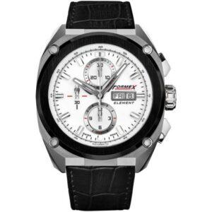 Element Automatic Chronograph Ceramic Bezel / White / Croco