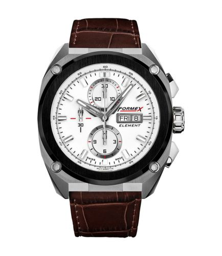 Element Automatic Chronograph Ceramic Bezel / White / Croco