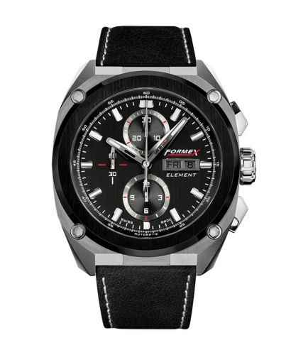 Element Automatic Chronograph Ceramic Bezel / Black / Calf