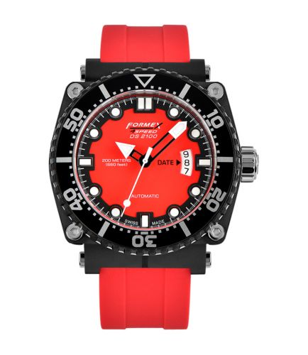 Diver Automatic Red / Rubber