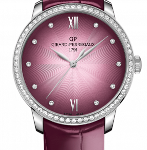 1966 36mm Stainless Steel / Diamond / Pink / Alligator