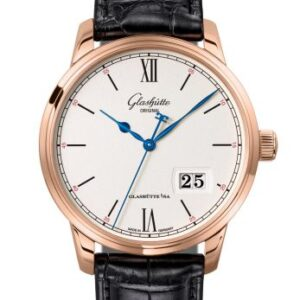 Senator Excellence Panorama Date Red Gold / Silver / Alligator / Pin