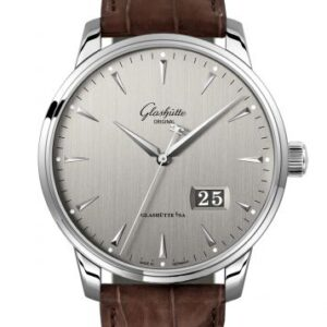 Senator Excellence Panorama Date Stainless Steel / Grey / Alligator / Pin