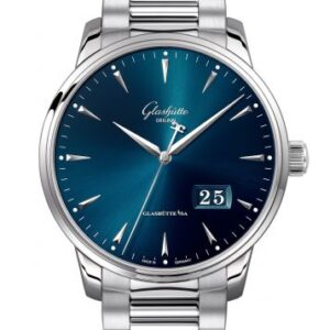 Senator Excellence Panorama Date Stainless Steel / Blue / Bracelet