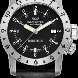 Glycine Airman Double Twelve Black / Stainless Steel