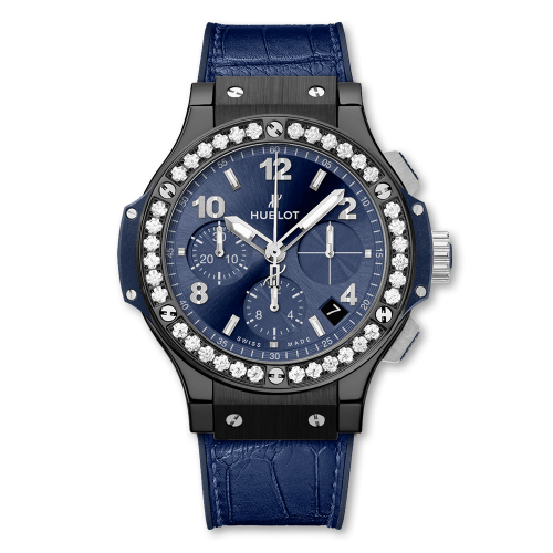 Big Bang 41 Ceramic / Diamond / Blue
