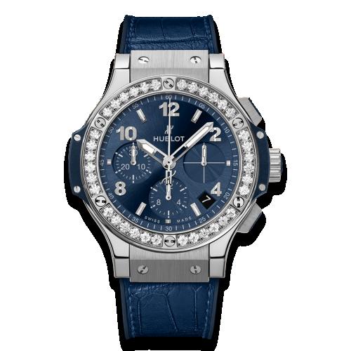 Big Bang 41 Stainless Steel / Diamond / Blue