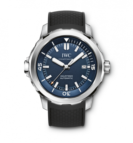 Aquatimer Automatic Stainless Steel / Blue / Rubber / Expedition Jacques-Yves Cousteau