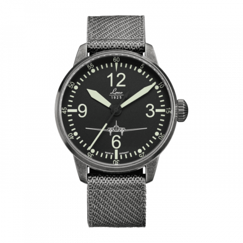 Pilot Watch Special Models DC-3 / Stainless steel / Black