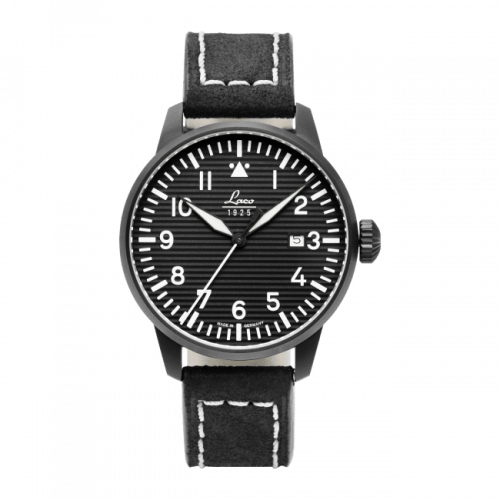 Pilot Watch Special Models Model Luzern / Stainless steel / Black