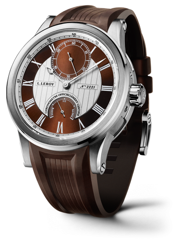 Automatic Deck Chronometer White Gold Brown-Silver