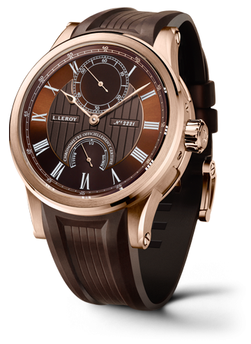 Automatic Deck Chronometer Pink Gold Brown
