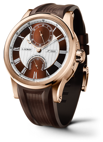 Automatic Deck Chronometer Pink Gold Brown-Silver