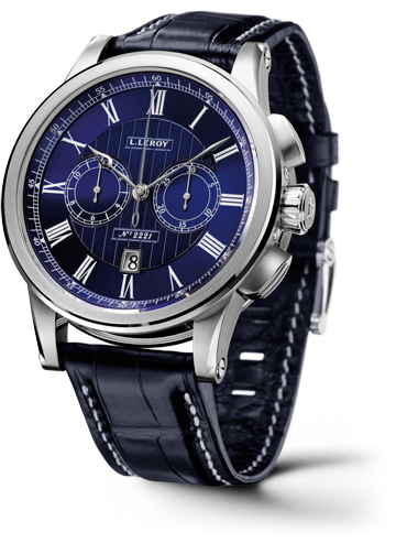 Automatic Deck Chronograph White Gold Blue
