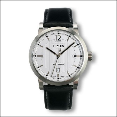 Chyros Automatic - Silvered / black leather strap
