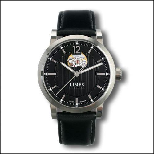 Chyros Balancier Visible - Black / black leather strap