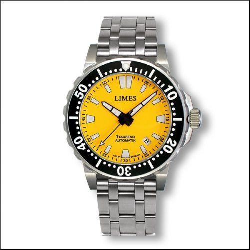 1Tausend Automatic Yellow - steel bracelet