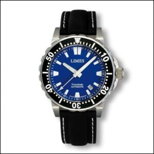 1Tausend Automatic Blue - Leather strap