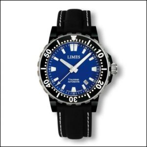 1Tausend Automatic PVD Blue - Leather strap