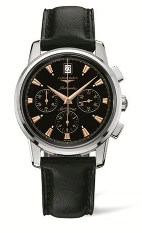 Conquest Heritage Chronograph Black / Calf