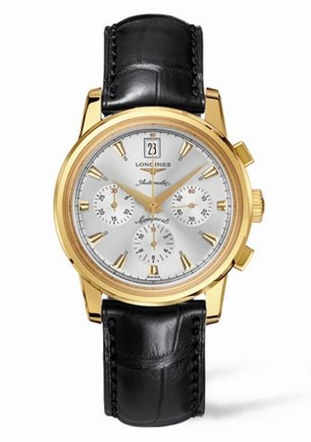 Conquest Heritage Chronograph Yellow Gold