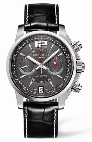 Admiral Chronograph Grey Leather