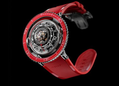 Horological Machine N°7 Aquapod Platinum / Red
