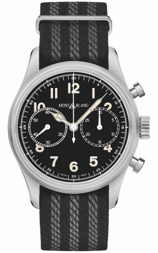 1858 Automatic Chronograph Stainless Steel / Black / NATO