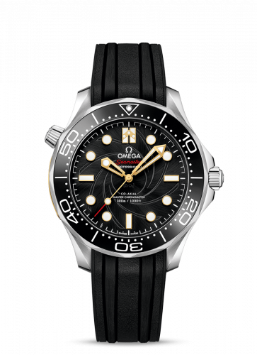 Seamaster Diver 300M Master Co-Axial 42 James Bond Stainless Steel / Black / Rubber