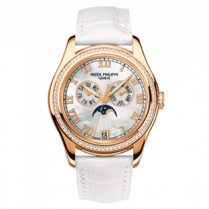 Annual Calendar 4936 Rose Gold Diamond Mother of Pearl