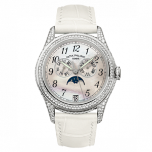 Annual Calendar 4937 White Gold Diamond White Mother of Pearl