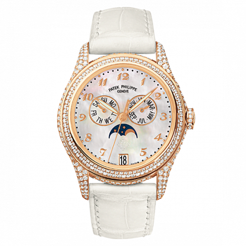 Annual Calendar 4937 Rose Gold Diamond White Mother of Pearl