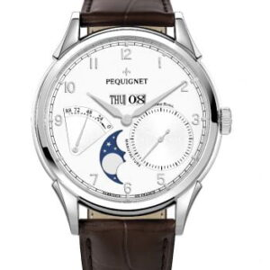 Royale Grand Sport Moonphase Silver Numerals / Brown Strap