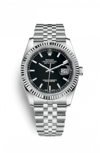 Datejust 36 Stainless Steel Fluted / Jubilee / Black