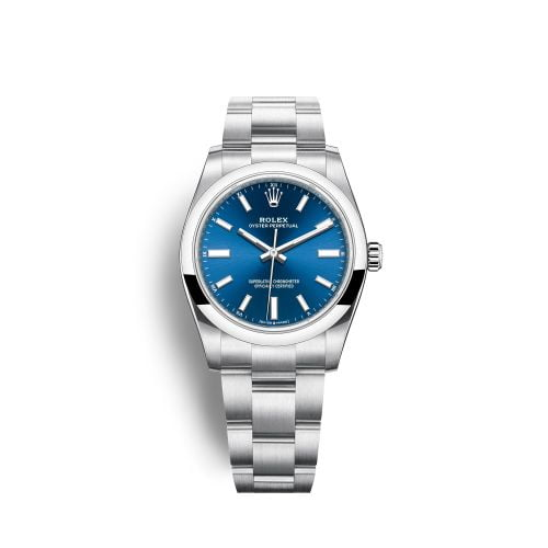 Oyster Perpetual 34 Stainless Steel / Blue
