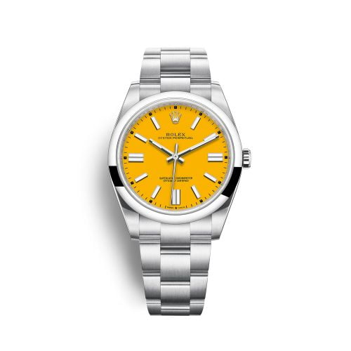 Oyster Perpetual 41 Stainless Steel / Yellow