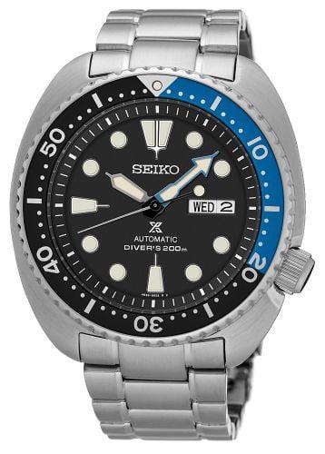 Prospex Diver Turtle Stainless Steel / Black / Bracelet / Batman