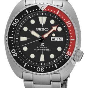 Prospex Diver Turtle Stainless Steel / Black / Bracelet / Coke