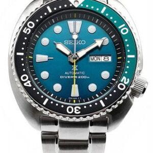 Prospex Diver Turtle Stainless Steel / Green / Bracelet