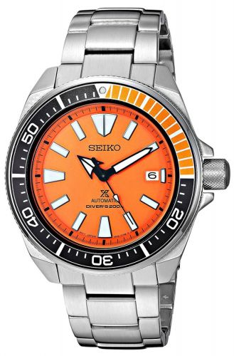 Prospex Diver Samurai Stainless Steel / Orange / Bracelet