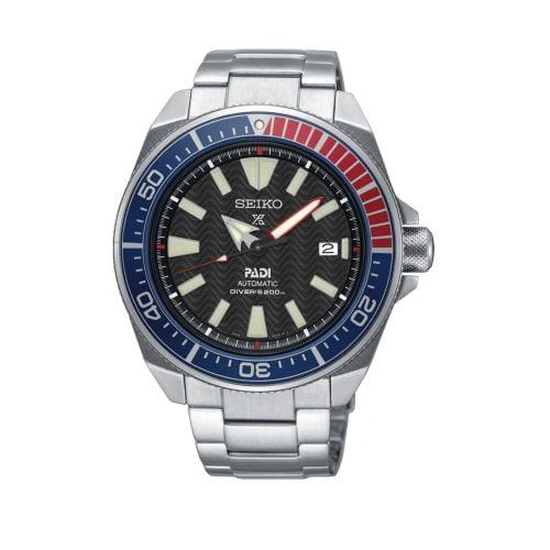 Prospex Diver Samurai Stainless Steel / Black / Bracelet / Padi
