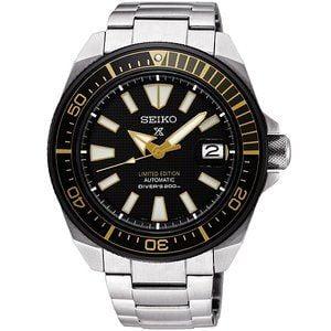 Prospex Diver Samurai Stainless Steel / Black / Bracelet / Zimbe