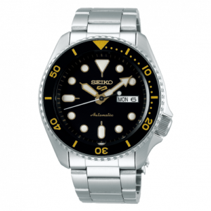 5 Sports Sports Style Stainless Steel / Black - Gold / Bracelet
